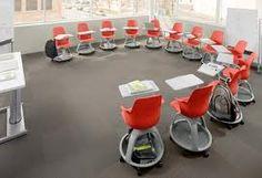 Cool movable desks - training room idea?