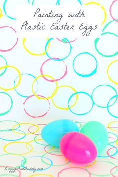 Painting with Plastic Easter Eggs~ BuggyandBuddy.com