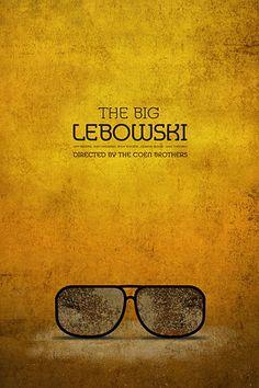 The Big Lebowski Poster Art Best Movie Posters, Minimal Movie Posters, Minimal Poster, Movie Poster Art, Poster S, Cool Posters, Big Lebowski Poster, The Big Lebowski, Films Cinema