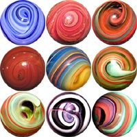 Glass Marbles made by Brian Graham