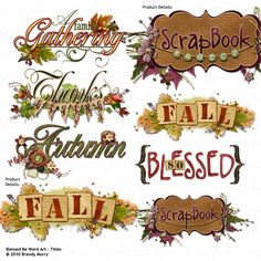 Blessed Be Word Art
