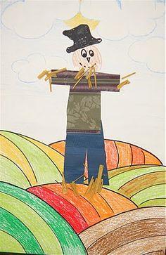 Scrap Paper Scarecrow