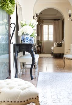 Spring Entryway one room spring tour by Randi Garrett Design