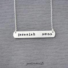 jeremiah 29 11 necklace hand stamped personalized by JewelMango, $24.20