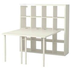 Look what I've found at IKEA - kallax shelf unit Ikea Kallax Desk, Kallax Shelving Unit, Ikea Kids Desk, Hack Ikea, Ikea Linnmon, Corner Workstation, Ikea Regal, Kallax Regal, Foldable Table