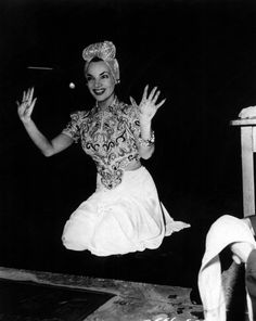 Carmen Miranda, immortalized in cement, Grauman's Chinese Theater, Hollywood.