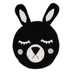 Black Bunny Snuggle Cushion  click image to purchase