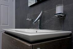 Villeroy & Boch Venticello vanity and Axor Organic tap against V&B Bernina tiles - specification by Joanne Logan