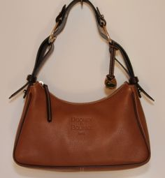 Dooney Bourke - Brown Pebble Leather Hobo You can find this item and more on www.handbagconsignmentshop.com