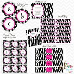 Hot Pink Zebra Display 2