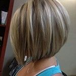Side View of A-line bob hairstyle for women