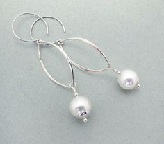 white shell pearl and sterling silver by SharonClancyDesigns, $34.00