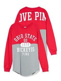 The Ohio State University Colorblock Varsity Crew - PINK - Victoria's Secret