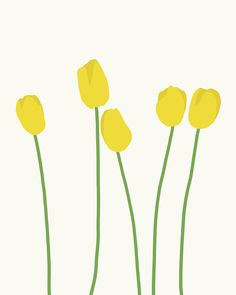 I love the simplicity of this. the simple shapes and colors really make it interesting to me. I like how simple it is but it is still recognizable as flowers