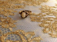 Antique Ring  Victorian Ring  1800s Ring  Faux by FourLeafVintage
