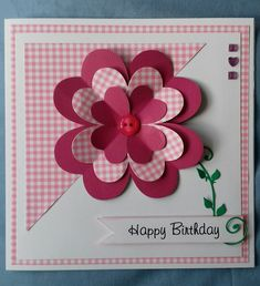 6x6 Flower Birthday card