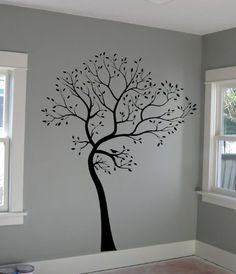 Digiflare Graphics Large Big Tree Wall Decal + Birds Deco Art Sticker Mural Made in USA Large Wall Decals, Bird Wall Decals, Tree Decals, Wall Decals For Bedroom, Wall Stickers Murals, Wall Decal Sticker, Tree Wall Stencils, Simple Wall Paintings, Tree Wall Art