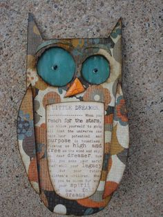 gRoOvy oWL niGhtLiGht....littLe dReAmer by sUzdAviSstUdio on Etsy, $27.00 #handmade #owls