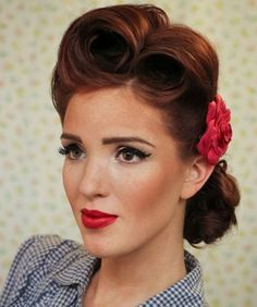 pin up vintage updo