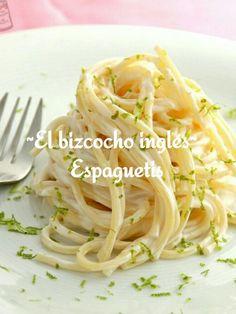 ~El bizcocho inglés~         Espaguetis  Nota:Te invita a a dar like y seguirla.