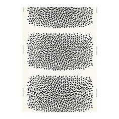 "$7.99 yd. - TRÅDKLÖVER fabric, black, white Width: 59 "" Pattern repeat: 36 "" Width: 150 cm Pattern repeat: 92 cm"