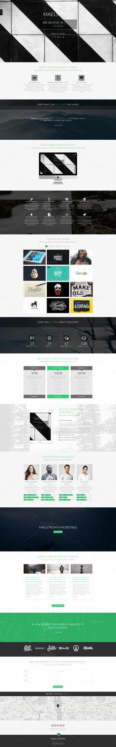 Maelstrom: Multipurpos HTML Template Website Design Inspiration, Website Design Layout, Web Themes, Website Themes, Color Themes, Types Of Websites, Beauty Websites, One Page Website, Pricing Table