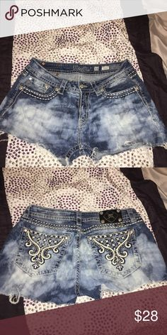 Miss me shorts Great for summer. Pants cut into shorts. Bleached and distressed. Excellent condition Miss Me Shorts