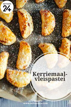 Kerriemaalvleispastei Sausage Rolls, Pretzel Bites, Bread, Food, Brot, Essen, Baking, Meals, Breads