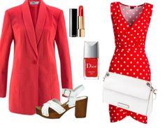 """Business Outfits """"Red and white summer"""" samengesteld door Ally25 via stylefruits.nl. Artikelen zijn direct bij onze partnerhops te bestellen!"""