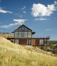 The house that architect Renée del Gaudio designed for her family in Boulder uses energy-efficient Loewen windows on the south facade tha...