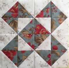 Block 22 Dreiecksversammlungen – - My CMS Charm Pack Quilt Patterns, Scrap Quilt Patterns, Pattern Blocks, Diy Quilt, Quilt Blocks Easy, Half Square Triangle Quilts Pattern, Charm Square Quilt, Colchas Quilting, Quilting Projects