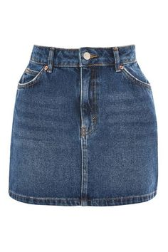 In washed blue denim, this versatile mini skirt is great for styling with tees and casual shirts. Button Front Denim Skirt, Blue Denim Skirt, Jean Skirt, Best Boyfriend Jeans, Latest Jeans, Black Jeans Outfit, Topshop Skirts, Looks Vintage, Cute Comfy Outfits