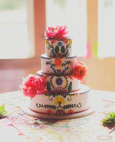 Beautiful colorful cake