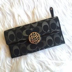 Coach wallet super chic full size monogram wallet by coach. never used! Coach Bags Wallets