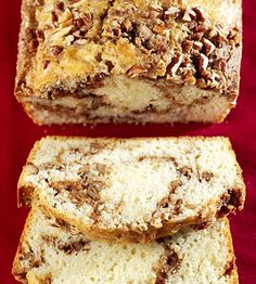 Mmmm... Cinnamon is great in anything baked, but this bread swirled with cinnamon and walnuts looks pretty fabulous.