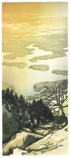 Matt Brown Woodblock Prints http://ooloopress.com/ , https://hangaprints.com/ The Gallery: Mountains