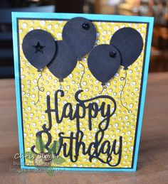 """My preorder came yesterday, and of course I had to play with it right away! I made the easiest of cards with the new Happy Birthday Thinlit. I can see that this is going to be a favorite. I found this thinlit easier to use than some of the other detailed thinlits - the script is a bit thicker, and it fell out of the die easily. It's gorgeous isn't it?  The designer paper is also from the upcoming 2017-2018 Annual Catalog - it is called """"Pick a Pattern"""". My card bases ar..."""