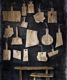 Tablas de corte de madera de olivo, talladas a mano, de Andrea Brugi