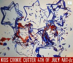 Cookie Cutter 4th of July / Patriotic  Kids Craft http://mamato5blessings.com/2012/06/america-is-4th-of-july-craft/