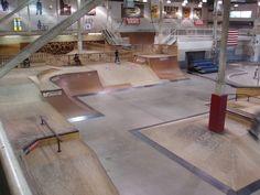 indoor skatepark toronto - Google Search Interior Walls, Best Interior, Interior Design, Wall Finishes, Skate Park, House Rooms, Dining Table, Backyard, Indoor