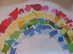 rainbow paper project