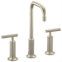 Kohler K14408-4-BN Purist 8'' Widespread Bathroom Faucet - Vibrant Brushed Nickel
