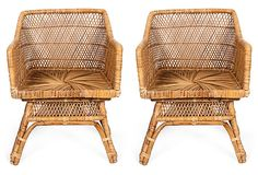 Woven Club Chairs!