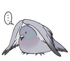 Cute Pigeon by Studio Pigeon Cute Pigeon, Weird Drawings, Duck Art, Line Sticker, Pikachu, Birds, Stickers, Wallpaper, Artwork