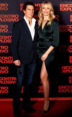 Tom Cruise & Cameron Diaz from Movie Premieres: Red Carpets and Parties! Tom Cruise Hot, Tom Cruise Young, Celebrity Dads, Celebrity Pictures, Celebrity Style, Tom Cruise Haircut, Ton Cruise, Charlies Angels Movie, Tall Girl Short Guy