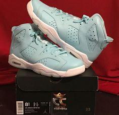 NEW IN HAND Nike Air Jordan 6 Retro GG 'Pantone' Still Blue/White SIZE 8.5 YOUTH #Jordan