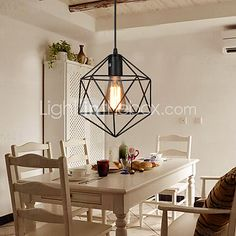 E27 5-15㎡ Geometrical Line Diamond Wrought Iron Chandelier Pendant Lights LED Modern/Contemporary - AUD $38.88 ! HOT Product! A hot product at an incredible low price is now on sale! Come check it out along with other items like this. Get great discounts, earn Rewards and much more each time you shop with us!