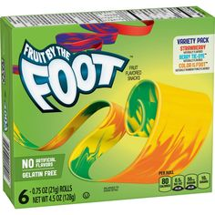 Fruit by the Foot Variety Pack Fruit Snacks - Cereal Recipes, Snack Recipes, Healthy Recipes, Power Ranger Party, Candy Brands, Fruit Snacks, Fruit Chews, On The Go Snacks, Mini Donuts
