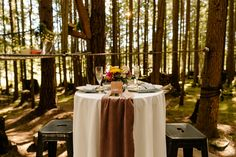Micro wedding venue Seattle, WA Emerald forest photographer, unique venues in the PNW, table for two cocktail table, styling, blush and blue velvet Seattle Wedding Venues, Unique Wedding Venues, Cocktail Tables, Blue Velvet, Big Day, Emerald, Blush, Table Decorations, Home Decor