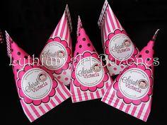 "Favors Caramel Estampados para Baby Shower ""Fucsia & Marrón"" | Lythium Art®  Design by: Yil Siritt"
